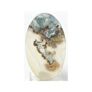 Plume Agate Gem Agate Drilled Stone Cabochon Pendant Bead Cabochon 45 carats