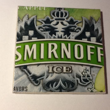 Beer Coaster: Smirnoff Ice Green Apple (pack of 4)