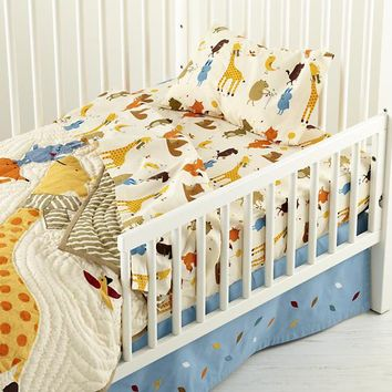 The Land of Nod | Toddler Bedding: Animal Print Toddler Bedding in Toddler Bedding