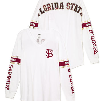 Florida State University Bling Varsity V-Neck Tee - PINK - Victoria's Secret