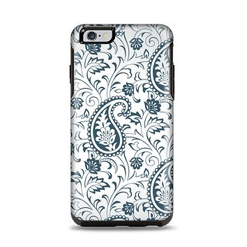 The Dark Green Highlighted Paisley Pattern Apple iPhone 6 Plus Otterbox Symmetry Case Skin Set