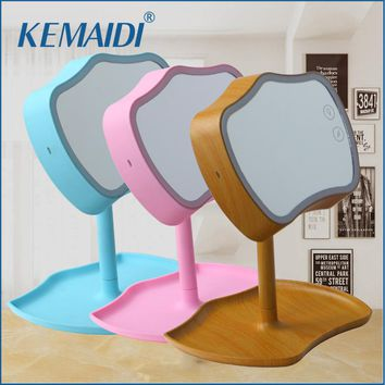 KEMAIDI Makeup Mirror LED Touch Screen 2 Function Use LED Desk Lamp Vanity Mirror With LED Lights Health Beauty Adjustable