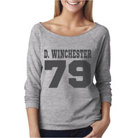 Dean Winchester DOB Sloucy T-Shirt | Supernatural T-Shirt | Date of Birth | Next Level Ladies Poly Cotton 3/4 Raglan