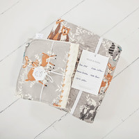 Hello Bear Heirloom Quilt Collection in Fog