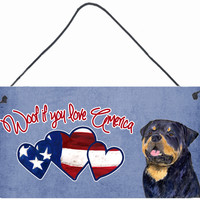 Woof if you love America Rottweiler Wall or Door Hanging Prints SS5036DS612