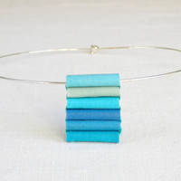 pendant necklace - blue ombre