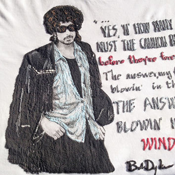 BOB DYLAN T-SHIRT painting on relief