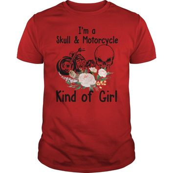 I'm a skull and motorcycle kind of girl shirt Premium Fitted Guys Tee