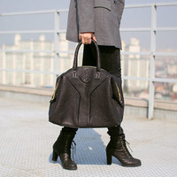 Volcano BAG (Black Color)/Bags & Purses/ Tote bag /Handbag /Shoulder bag/ Boston bag/ Satchel bag/Boston bag - Premium EMBO Lambskin