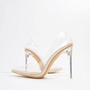 Public Desire Drank clear pumps at asos.com