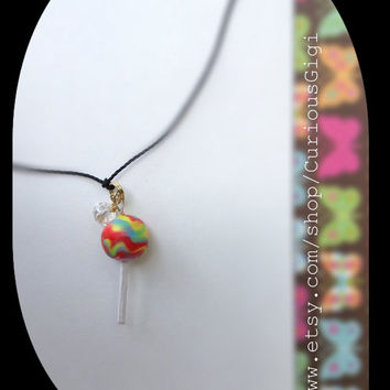 Made to order Simple delicate colorful lollipop necklace