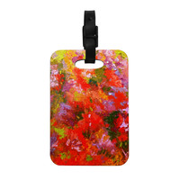 """Jeff Ferst """"Summer Garden"""" Floral Painting Decorative Luggage Tag"""