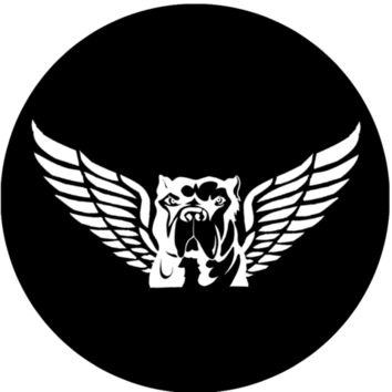 Pit Bull with wings sticker