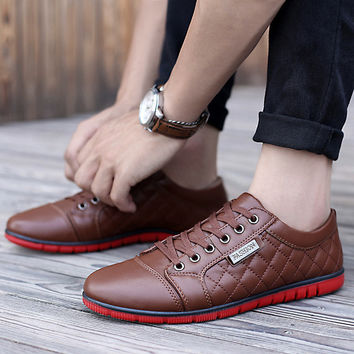 Mens Quilted Style Casual Shoes