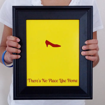 Wizard of Oz Minimalist Art. Dorothy Print. There's No Place Like Home.