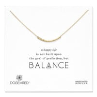 balance smooth bead necklace, gold dipped