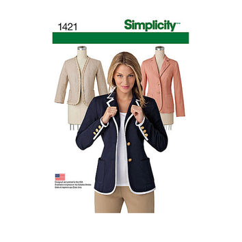 JACKET SEWING PATTERN Unlined Jacket Simplicity 1421 Bust 38 40 42 44 46 UNCuT 2000s Womens Misses Petite Plus Size Sewing Patterns