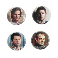 Supernatural Characters Pin Set