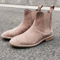 Acevedo Chelsea boots men brand designer martin style slp Genuine Leather ankle boots men tan west boots men shoes