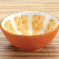 Orange Ceramic Dipping Bowl, Set Of 2 - 8596