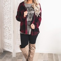 Davis Flannel (Wine/Black)