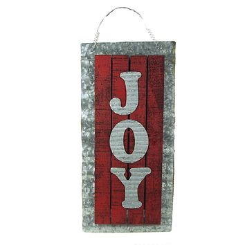 Holiday Joy Wood Sign On Aluminum Sheet, 22-Inch