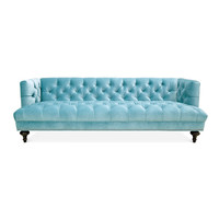 BAXTER T-ARM SOFA WITH NICKEL NAILHEAD TRIM