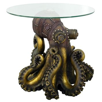 Steampunk Octopus Side Table | Overstock.com Shopping - The Best Deals on Coffee, Sofa & End Tables