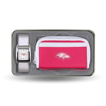 Baltimore Ravens NFL Women's Watch and wallet Gift Set