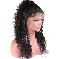 Water Curly Wig Brazilian Lace Front Human Hair Wigs W/Baby Hair