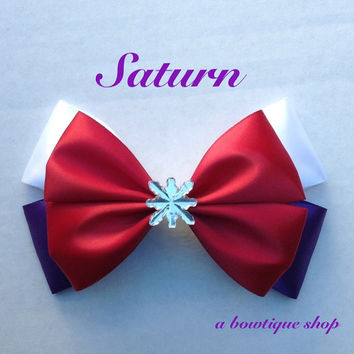 saturn hair bow