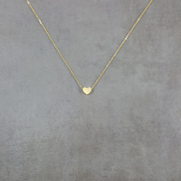 Heart Tiny Gold Necklace