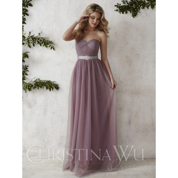 Christina Wu Occasions 22676 Long Tulle Bridesmaid Dress