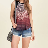 Women Summer  Boho Style Floral Print Blouse Black O-Neck Sleeveless Vintage Casual Tops Shirts