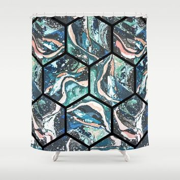 Abstract - Title- Pattern Shower Curtain by Salome