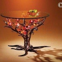 Dogwood Tree Table, Aster and Rose