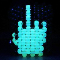 Glow in the Dark Middle Finger Kandi Cuff