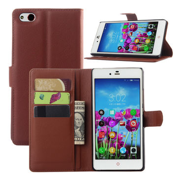 Leather Flip Wallet Protective Case For ZTE Nubia Z9 Max SmartPhone