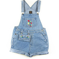 FULL HOUSE 1990's Denim Short Overalls with Matching Fanny Pack