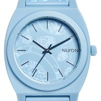 Women's Nixon 'The Time Teller' Paisley Print Watch, 40mm