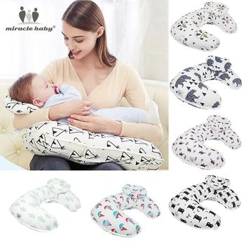 2Pcs/Set Baby Nursing Pillows Maternity Baby Breastfeeding Pillow Infant Cuddle U-Shaped Newbron Cotton Feeding Waist Cushion