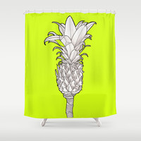 Pineapple - Ananas Arising tikigreen Shower Curtain by Tiki