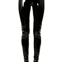 The Turbo Lover High Waist Vinyl Leggings in Black