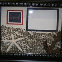 Boys. Room Decor. Wire name. Personalized. Shadow box. gift idea. Nautical. Ocean. Wire. Frame.