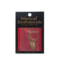 Japanese Art Makie Musical Instrument Decoration Sticker (Saxophone)