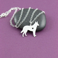 SALE - German Shepherd Necklace -  Dog Jewelry - Dog Breed - Pet Jewelry - Personalized Pets - Dog Memorial Gift - New Puppy - Doggy Rescue