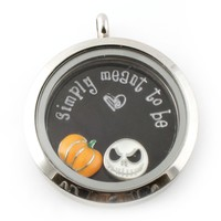 Nightmare Before Christmas Floating Locket Set - Spiffing Jewelry