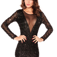 PARTY DRESS BODYCON ELASTIC LACE/TULLE