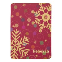 Merry & Bright Personalized Christmas Holiday Receiving Blankets