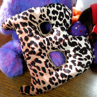 Letter B beanbag cheetah one of a kind for play or by CleverRuthie